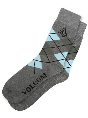 Volcom Argyle Socks Grey One Size