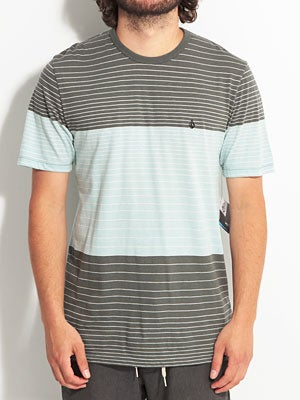 Volcom Transponder Crew Knit Shirt Blue SM