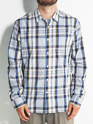 Volcom X Factor Plaid L/S Shirt Indigo SM