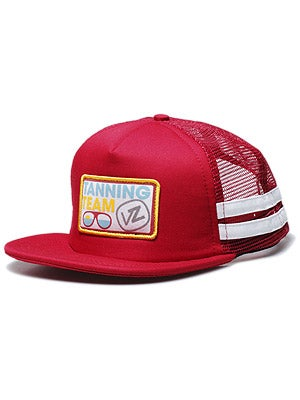Von Zipper Tanning Team Mesh Hat Red Adj.