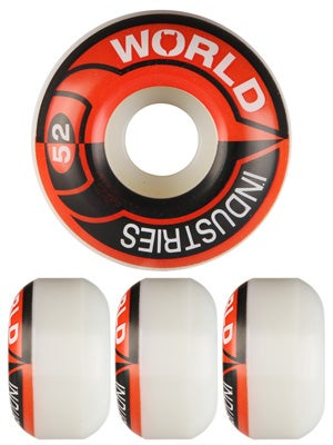 World Industries Stacked Logo Wheels 52mm