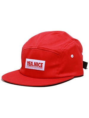 Yea.Nice Red All Over 5 Panel Camp Hat Red