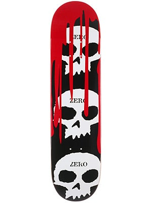 Zero 3 Skulls w/Blood Black Deck  7.75 x 31.5