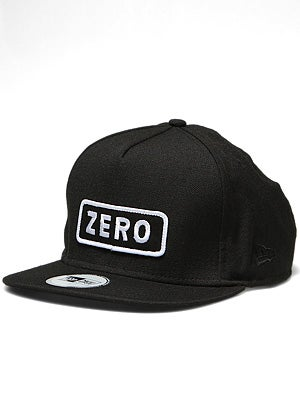 Zero Army Patch Snapback Hat Black/White Adj.