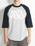 Anti Hero Black League 3/4 Sleeve T-Shirt