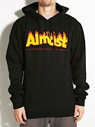 Almost Flaming Logo Hoodie