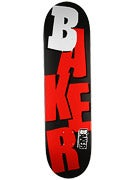 Baker Stacked Matte Black/Red Deck  8.25 x 31.875