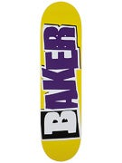 Baker Reset Logo Yellow/Purple Deck  8.25 x 31.875