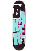 Baker Reset Stacked Black/Teal/Pink Deck  8.38 x 32