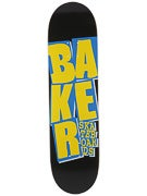 Baker Stacked Black/Yellow/Blue Deck  8.25 x 31.875