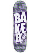 Baker Stacked Chill Wave Purp/Green Deck  8.125 x 31.5
