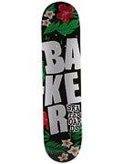Baker Stacked Logo Floral Deck  7.56 x 30