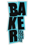 Baker Stacked Logo Sticker Black/Blue