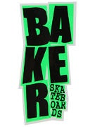 Baker Stacked Logo Sticker Black/Green