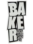 Baker Stacked Logo Sticker White/Black