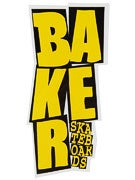 Baker Stacked Logo Sticker Yellow/Black