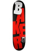 Baker Stacked Matte Black/Red Deck  8.0 x 31.75