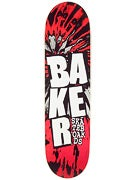 Baker Stacked Tie Dye Black/Red Deck  8.25 x 31.75