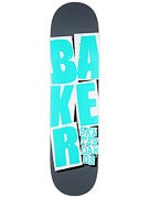 Baker Stacked Grey/Teal Deck  8.0 x 31.5
