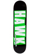 Baker Hawk Brand Logo Black/Green Deck  7.75 x 31