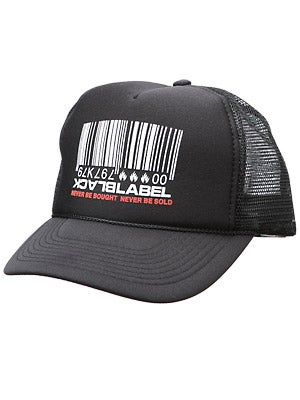 Black Label Barcode Mesh Hat