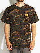 Black Label Camo Flame T-Shirt