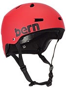 Bern Macon Thin Shell (CPSC) Helmet  Matte Red