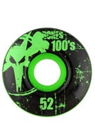 Bones 100's Green Wheels