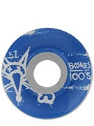 Bones 100's #9 Odd Wheels White