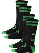 Creature Black/Green Metal Socks 2 Pack