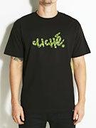 Cliche Handwritten Leaf Camo T-Shirt