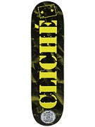 Cliche x Lowcard Collab Black/Yellow Deck  8.5 x 32