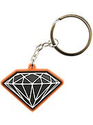 Diamond Rubber 3D Brilliant Key Chain  Orange/Black