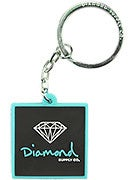 Diamond Rubber OG Sign Key Chain  Diamond Blue/Black