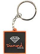 Diamond Rubber OG Sign Key Chain  Orange/Black