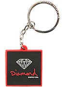 Diamond Rubber OG Sign Key Chain  Red/Black