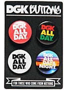 DGK Button 4-Pack  All Day