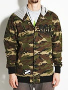 DGK Dropout Letterman Fleece Jacket  Camo