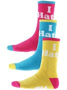 DGK Haters 13 Crew Socks 3 Pack