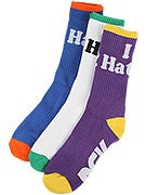 DGK Haters 9 Crew Socks 3 Pack