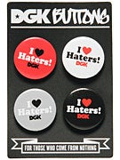 DGK Button 4-Pack  Haters
