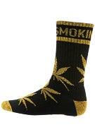 DGK Stay Smokin' Crew Socks Black/ Metallic Gold