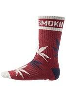 DGK Stay Smokin' Crew Socks Maroon/White/Navy