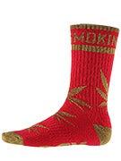 DGK Stay Smokin' Crew Socks Red/Gold