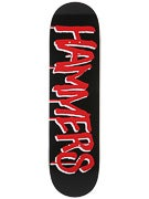 Deathwish Greco Drop Hammers Blk/Red Deck  8.25 x 32