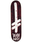 Deathwish Gang Logo Blood Black/White Deck  8.0 x 31.5