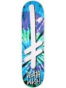Deathwish Gang Logo Tie Dye Blue/Grn Deck  8.25 x 31.5