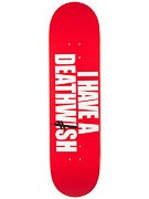 Deathwish I Have A Deathwish Red/Wht Deck  8.47 x 31.87
