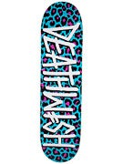 Deathwish Deathspray Teal Cheetah Deck  8.0 x31.5