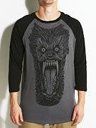 Deathwish Wolf Marble Baseball T-Shirt